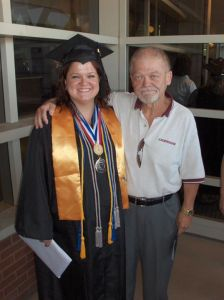 dad at my graduation